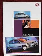 VAUXHALL Astra Active Special Edition UK Market brochure 2003