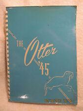 1945 Yearbook Otter Creek High School Terre Haute IN Grades 7 to 12 & Alumni
