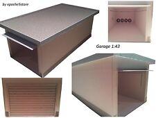 5 x Garage 1:43, mit Schwingtor und Innendetails Kartonmodellbausatz