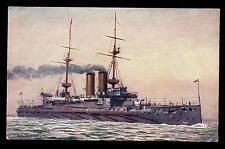 Royal Navy H.M.S.. Russell Armoured Battleship PPC Tuck Oilette #9083