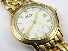 Rotary 11456 Gents Vintage Gold Plated Alarm Watch