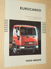 Prospectus Camion IVECO EUROCARGO  6 à 10 T  1991  Truck   brochure catalogue