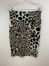 Lularoe S Cassie Skirt Black Tan Cheetah Leopard Textured Stretch Small