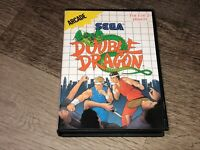 Double Dragon Sega Master System w/Case Cleaned & Tested