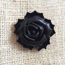 Handmade Genuine Black Leather Flower Brooch/Pins Accessories 6 Cm.