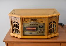 Sylvania SRCD823 Nostalgic Turntable/CD/AM FM Radio Wood Cabinet
