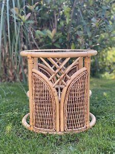 1960s vintage bamboo tiki lamp side coffee table Franco Albini Bonacina style