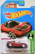 Hot Wheels 2016 Hw Vert Vitesse #1/5 Tesla Roadster Rouge Super Chasse au Trésor