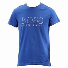 Hugo Boss Men's  Medium Blue Cotton Logo Crew Neck Short Sleeve T-Shirt