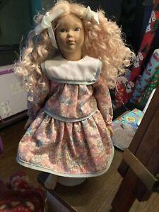Original Heidi Ott Handmade Swiss Design Doll & Stand