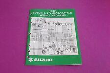 1987 Suzuki Atv/Motorcycle Wiring Diagrams Manual. Part# 99923-13871.