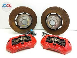 2015-2020 MERCEDES C63 S AMG W205 FRONT BRAKE CALIPER DISC ROTOR BREMBO SET ASSY
