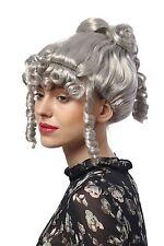 Perücke Damen Karneval Halloween Barock Romantik Grau Spirallocken Viktorianisch