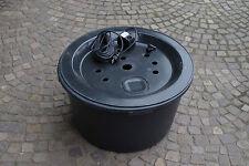 PE-Becken 66 cm inkl. Pumpe und Gfk Abdeckung, Brunnen, Wasserspiel, Quellstein