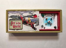 Mr. Christmas Joy To The World Animated Matchbox Music Box - Holiday Decoration
