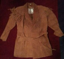 Suede fringed  coat.Ladies Size Med. Rust colored.Excellent condition1990's era