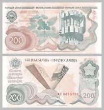Jugoslavia/YUGOSLAVIA 200 Dinara 1990 p102a unz.