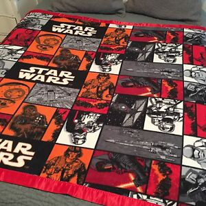 "New!! Star Wars Fleece Small/Lap Blanket. 58 X 63"". Great Gift!! C3"