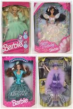 LOT OF 4 BARBIES DREAM FANTASY HAPPY BIRTHDAY EMERALD ELEGANCE DANCE 'TIL DAWN