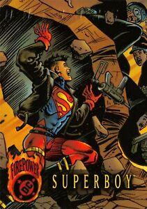SUPERBOY / DC Comics Outburst Firepower (1996) BASE Trading Card #56