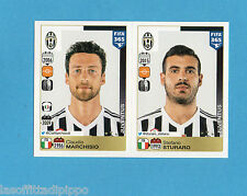 FIFA 365/2016-PANINI ITA-Figurina n.573/574- MARCHISIO+STURARO -JUVENTUS-NEW