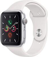 Apple Watch Series 5 40mm Boîtier en aluminium avec Bracelet Sport blanc
