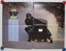 Vintage 1986 Cat's Pride Snowmobile Poster Year of The Arctic Cat Calendar