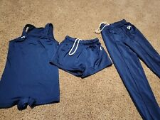 Gk Elite Boys Gymnastics Medium Compotition Pants, Shorts, Singlet Navy Sz Cm