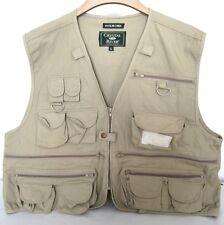 Khaki Tan COTTON PHOTOGRAPHER  Fishing Hunting Hiking Safari TRAVEL Vest XL