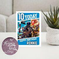 Personalised Fortnite Gaming Battle Royal Birthday Card - A5 Gloss Finish V4P
