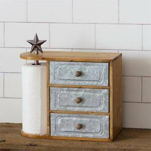 Star Paper Towel Holder with metal Drawers