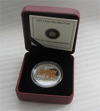 2012 Canada Farewell To The Penny 1/2 oz 9999 silver gold plated coin Proof
