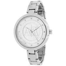 Armani Exchange AX 4223 Julietta Silver Stainless Mother of Pearl Crystals w/Box