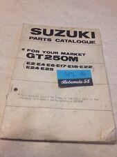 Suzuki Parts list GT250M GT250 M GT 250 catalogue liste pièce détachée par pays