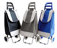 Einkaufstrolley Einkaufsroller Trolley Roller Einkaufswagen Klappbar -  EK Grau