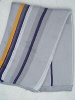 "Lufthansa Airlines Gray Blue Yellow Striped Throw Blanket 40"" x 54"" Modacryl"