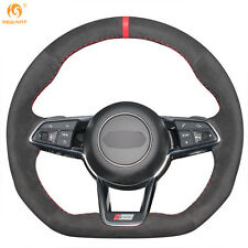 Soft and comfortable Black Suede Steering Wheel Cover Wrap for Audi TT 2017