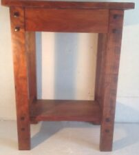 """Mission Style Dark Stained Solid Cherry Table Or Plant Stand 12""""x18""""x24"""""""