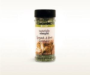 1 bottle Tastefully Simple Spinach & Herb Seasoning sealed NEW IN BOTTLE 1.5 oz