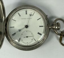 1871 Elgin W.H. Ferry 18 Size Pocket Watch Coin Silver Case