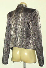 SPICYSUGAR FountainFrontMetallicReptilePrintPartyJacket Sz12