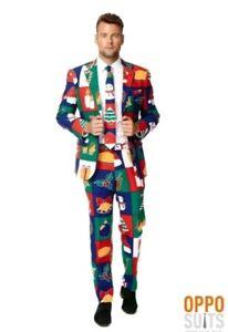 OppoSuit Homme Skulleton Costume-Noël Nouvel An Costume