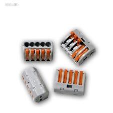 40 x WAGO Terminales Enchufe para 5 2,5 mm² caja gris SOLUBLE con la palanca de