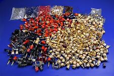 Huge Lot Binding Terminals--Gold Nickel Plated, Plastic, Dual Posts, Fasteners