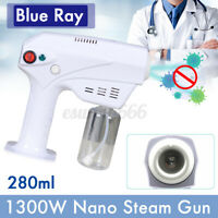 Blue Light Nano Steam Gun Sprayer Oil Treatment Care Machine Hair Steamer 280ml