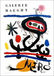 Joan MIRO Spanish Galerie Maeght Poster 16 x 11