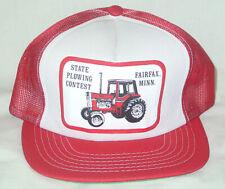 Vtg Mesh Snapback Trucker Hat International Harvester Tractor Fairfax Minnesota