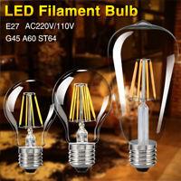 E27 4-16W COB LED RÉTRO EDISON FILAMENT BULBE LUEUR VINTAGE ST64/G45/A60 LAMPES