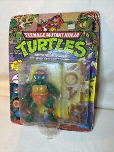 1991 Teenage Mutant Ninja Turtles Storage Shell Michaelangelo - New, Damaged Box