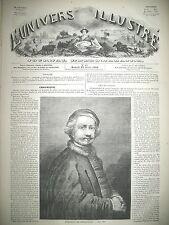 REMBRANDT PORTRAIT LA DESCENTE DE CROIX GRAVURES 1859